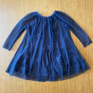 Stella McCartney Kids Navy Tulle Star Dress Size 2